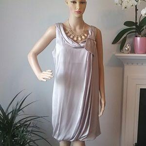 2/30$ H & M party metalic gray midi dress